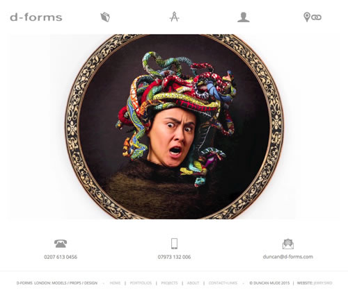 web design for d-forms modelmakers london