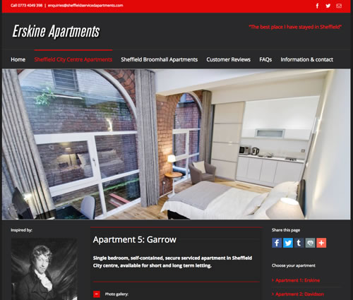 web design for erskine apartments