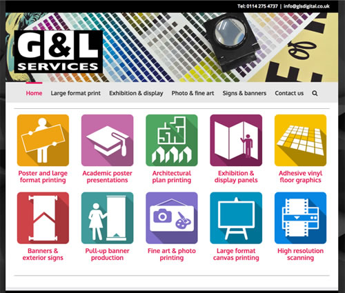 web design - g&l services sheffield