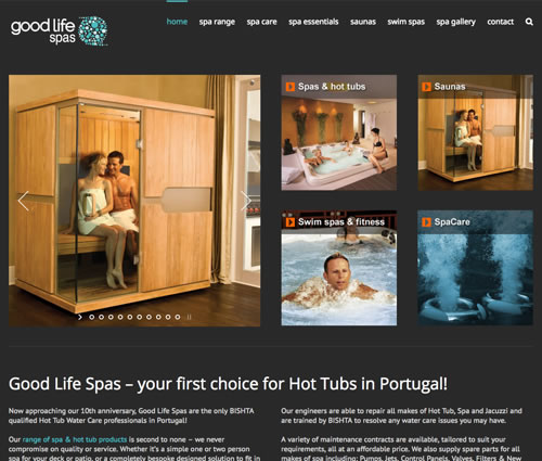 web design for Good Life Spas Portugal