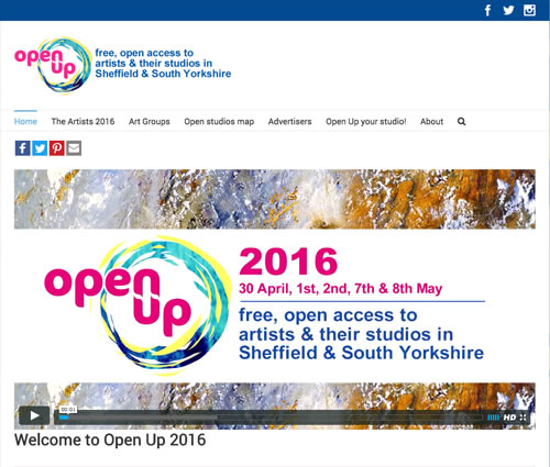 web design for Open Up Sheffield