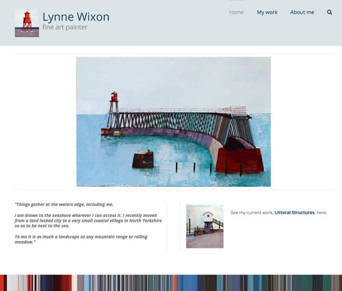 web design for lynne wixon artist