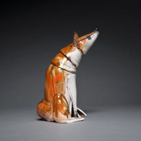 Ceramic fox by Anna Mercedes-Wear