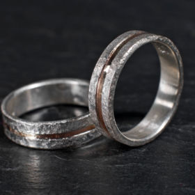 Bespoke wedding rings by Annette Petch