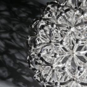 Silver geodesic ball by Brett Payne