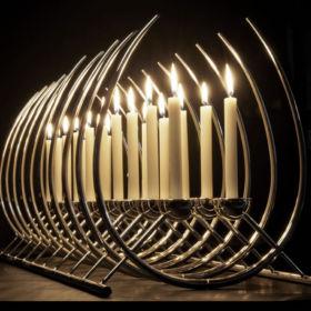 Silver candlesticks by Brett Payne