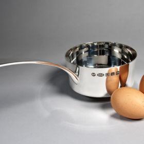 Silver saucepan by Brett Payne