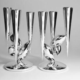 Silver candelabra by Chris Knight