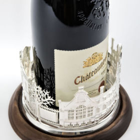 Jen Ricketts wine bottle coaster