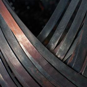 Woven copper vase by Jodi Hatcher