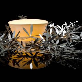 Josephine Gomersall bowl in silver nest