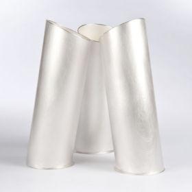 Silver vases by Juliette Bigley