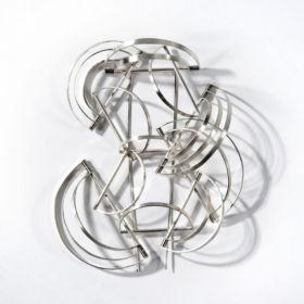 Silver brooch by Nicola Turnbull