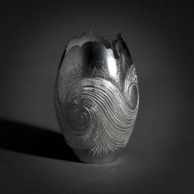 Zoe Watts silver vase
